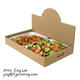 Custom print food packaging carrier pop up catering tray food display kraft paper box