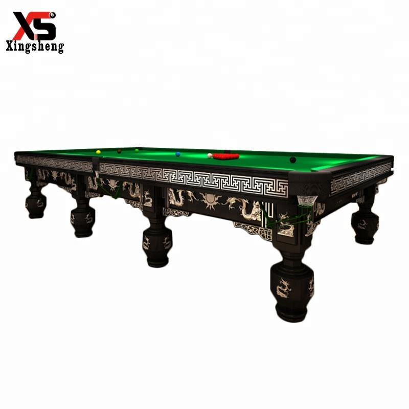 English style international standard 12ft snooker table with steel cushion