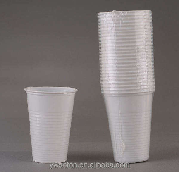 7oz PS disposable plastic white cup