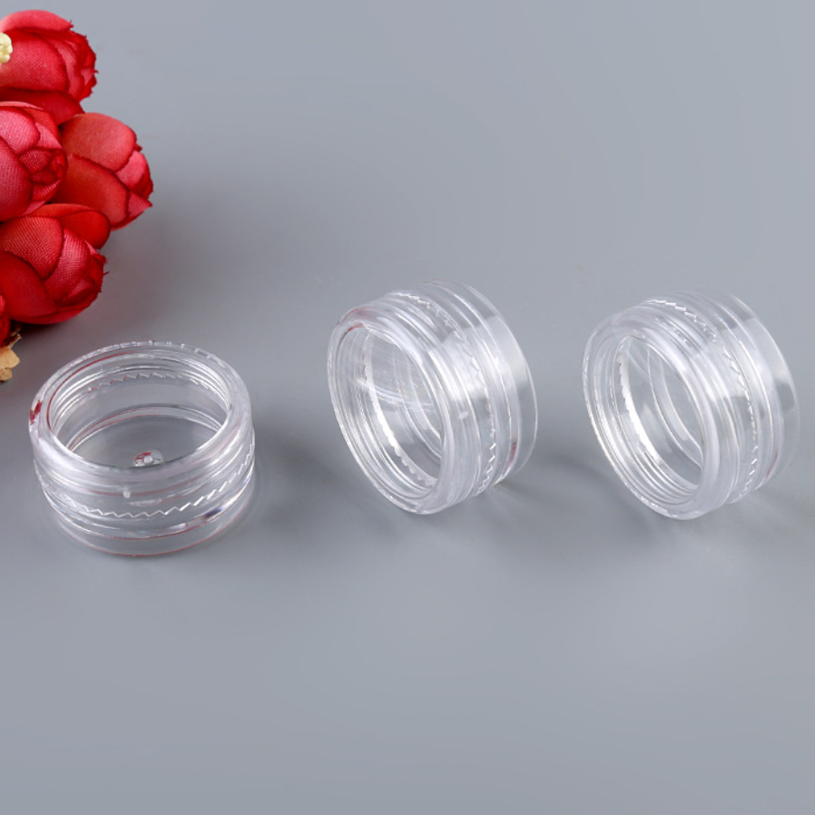 3g 5g 10g 15g 30g Small Clear Cream Jar, Plastic Pot Box Mini Transparent Cosmetic sample Container with Lids in stock