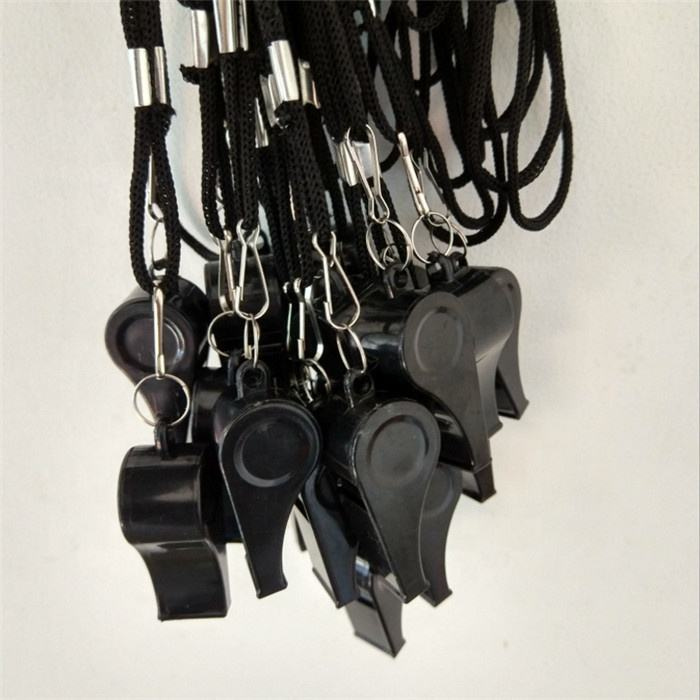 Plastic Sports Whistles with Lanyard