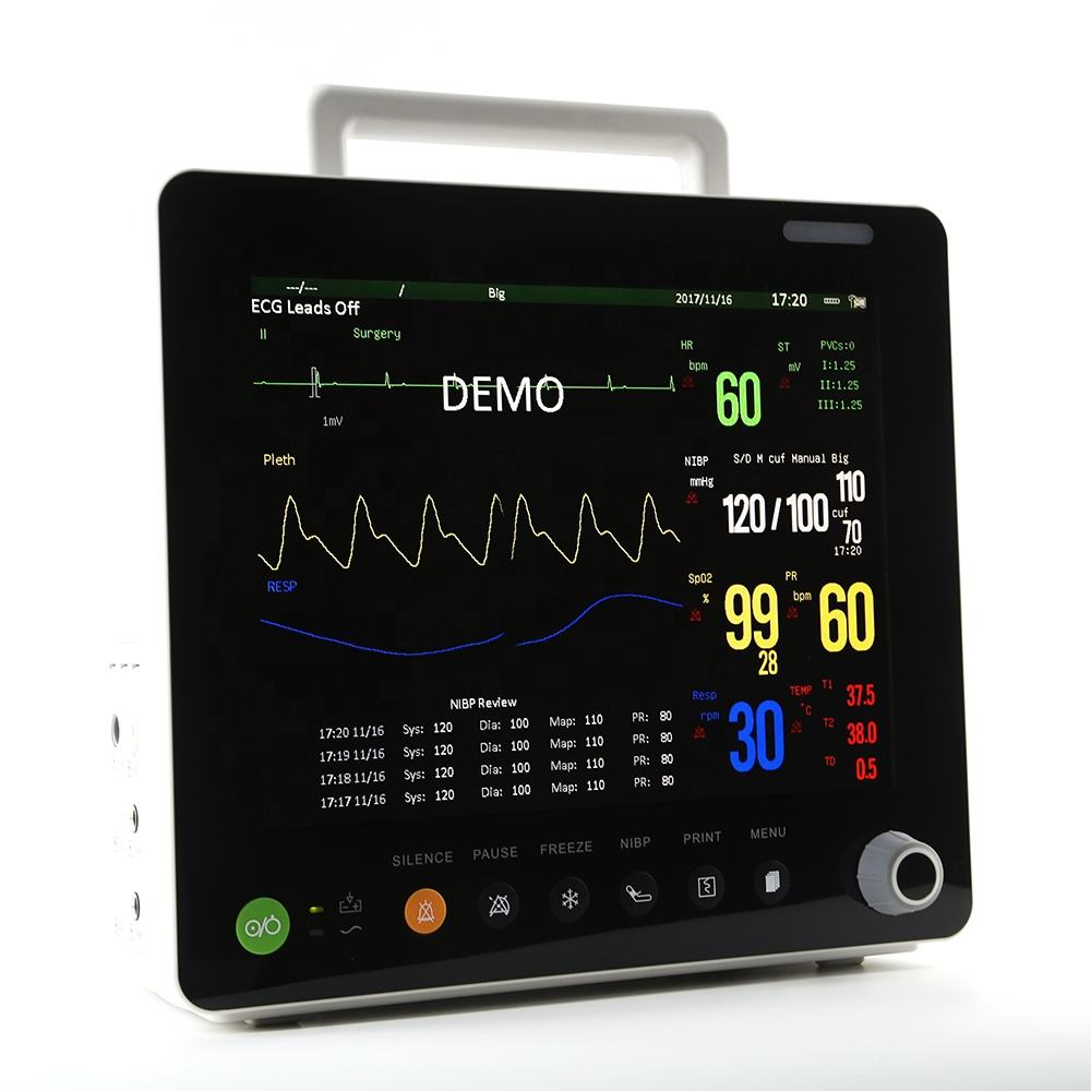 Veterinary Equipment: PPM-S12V High Quality 12.1inch Veterinary use Monitor with ETCO2
