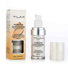 TLM Colour Changing Warm Skin Tone Foundation Makeup Base Nude Face Moisturizing Liquid Cover Concealer