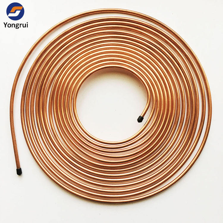 15m Pancake Coil Copper Coated Steel Bundy Pipe