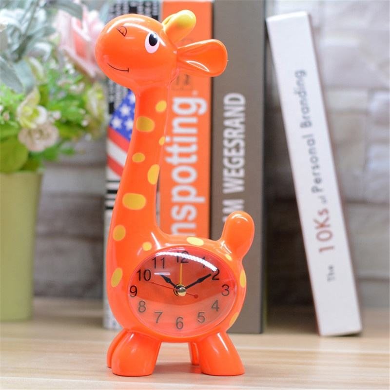 Creative Cute Giraffe Shape Model Digital Mechanical Table Clock