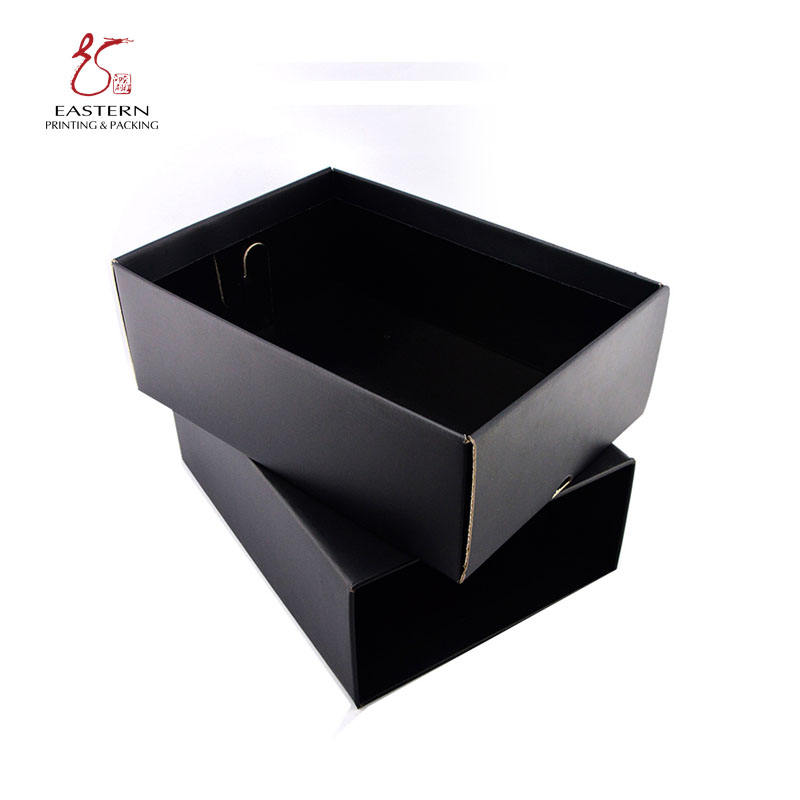 Black matt lamination cardboard boxes for shoe