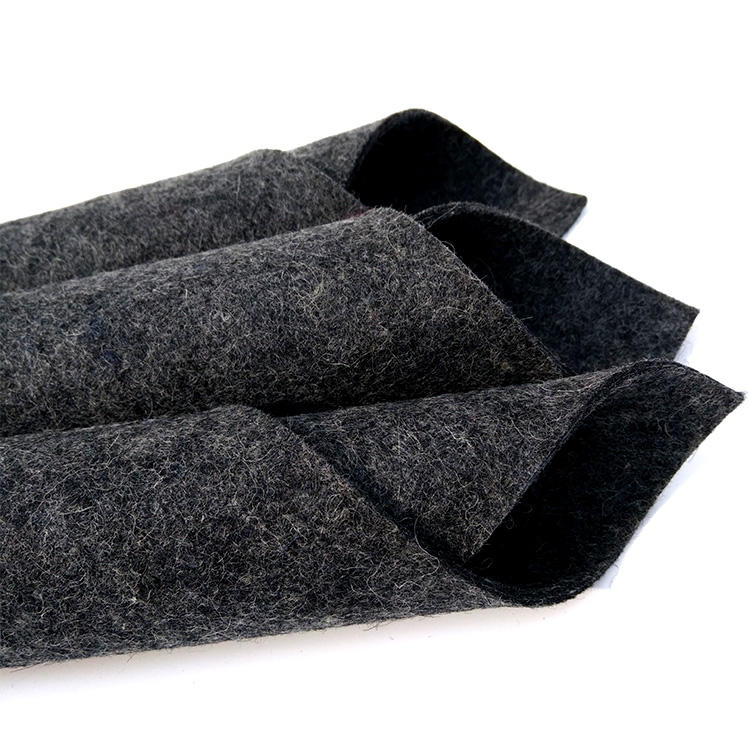 Wholesale Eco-friendly SAE Standeard Gray Wool Felt Fabric Material