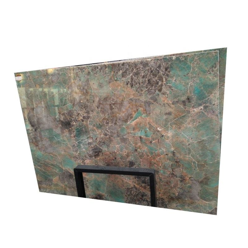 Polished surface natural stone amazon green quartzite for kitchen countertop
