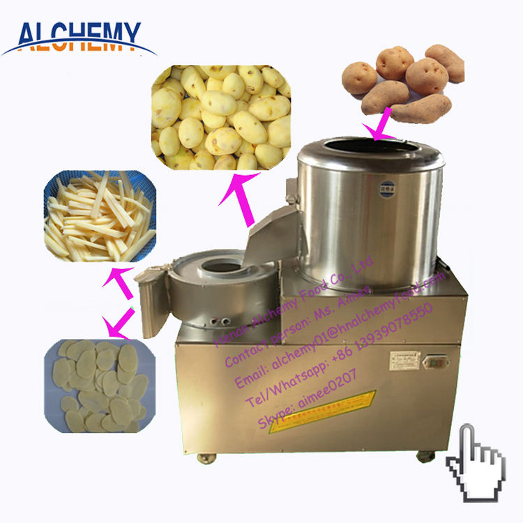 Patates douces automatique machine à éplucher et à couper