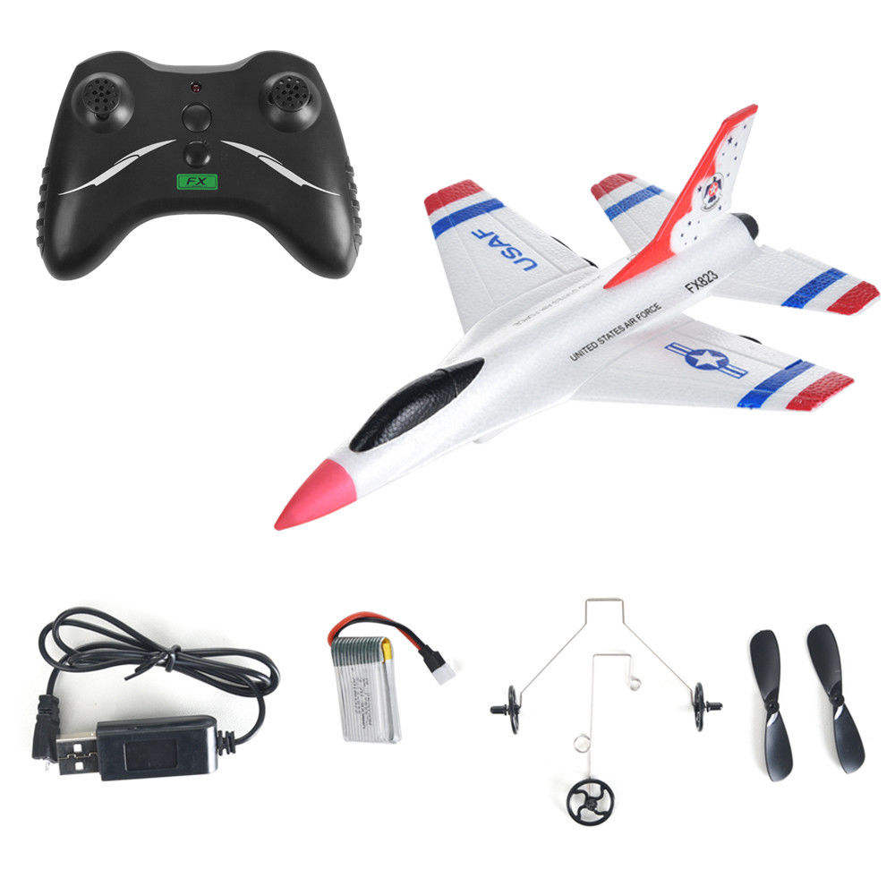 2019 Hot Sale Fly bear FX-823 RC Plane F16 2.4G 2CH Airplane Remote Control Glider Outdoor Flying Aircraft RTF Christmas Toys