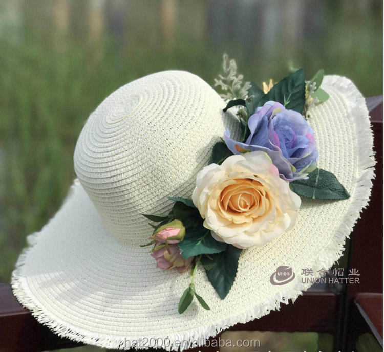 LC/_ Toddler Baby Girl Summer Wide Brim Sun Protection Beach Cotton Hat Novelty