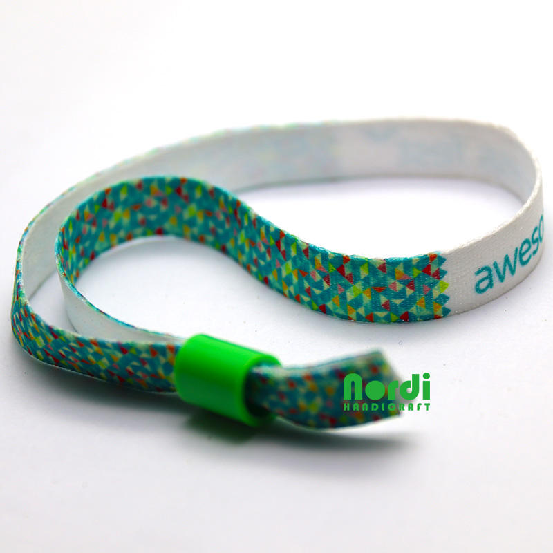 Customized Printing Logo Wristband With