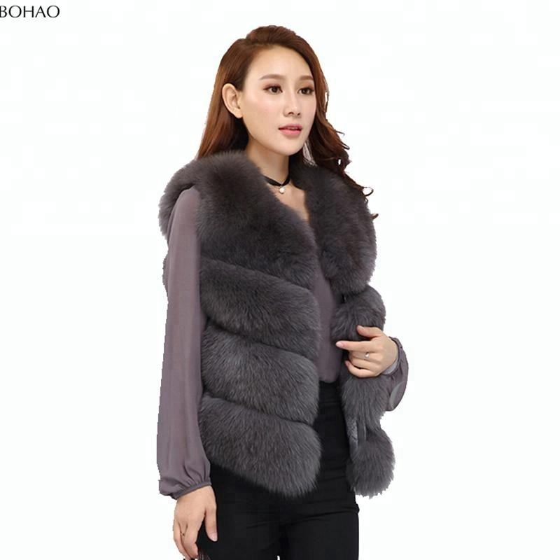 Many Colors Available Fancy Design Inexpensive Women Artificial Fox Fur Vest