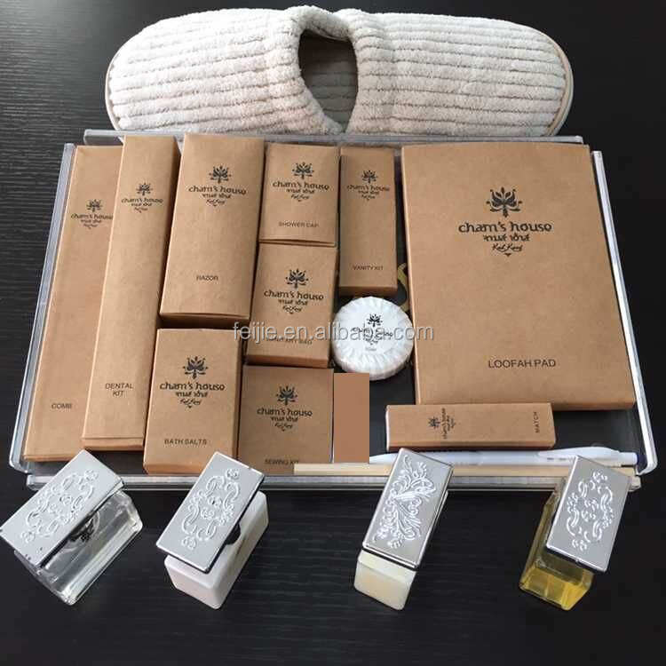 Hot sale luxury style disposable hotel amenity sets
