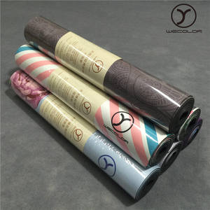 China Supplier Wholesale Natural Rubber Odourless Waterproof Natural Rubber Custom Logo Exercise Yoga Mat/Pilates Matte