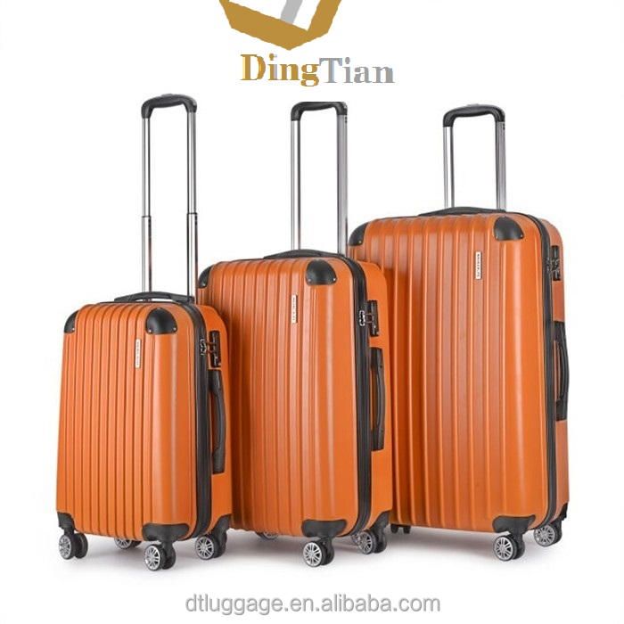 cheap ABS hard shell luggages with full zipper connect case body