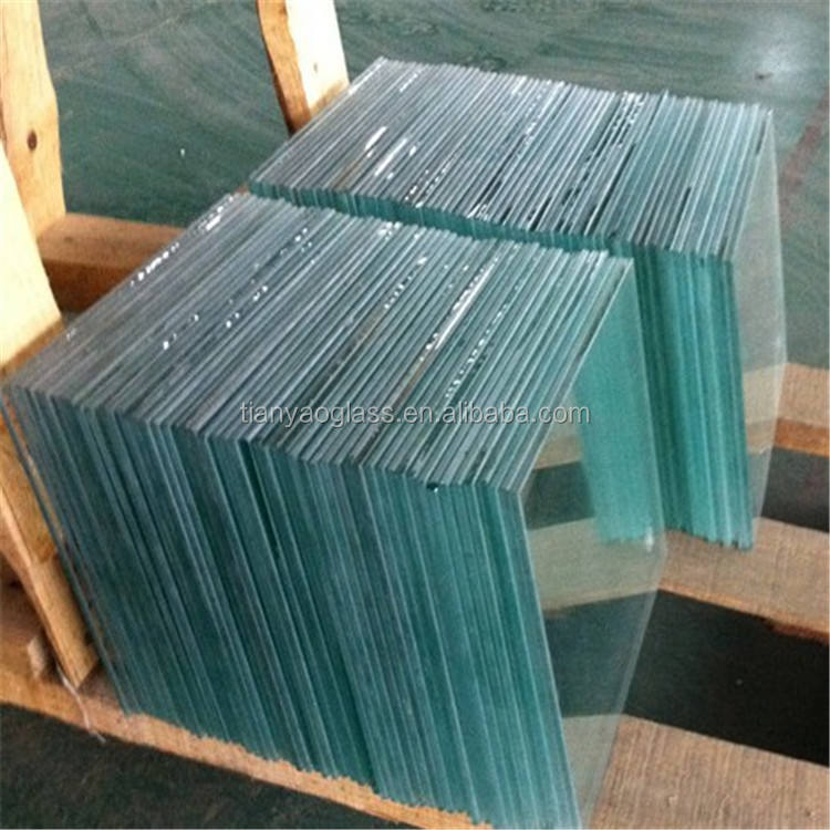 clear float glass with beveled edge