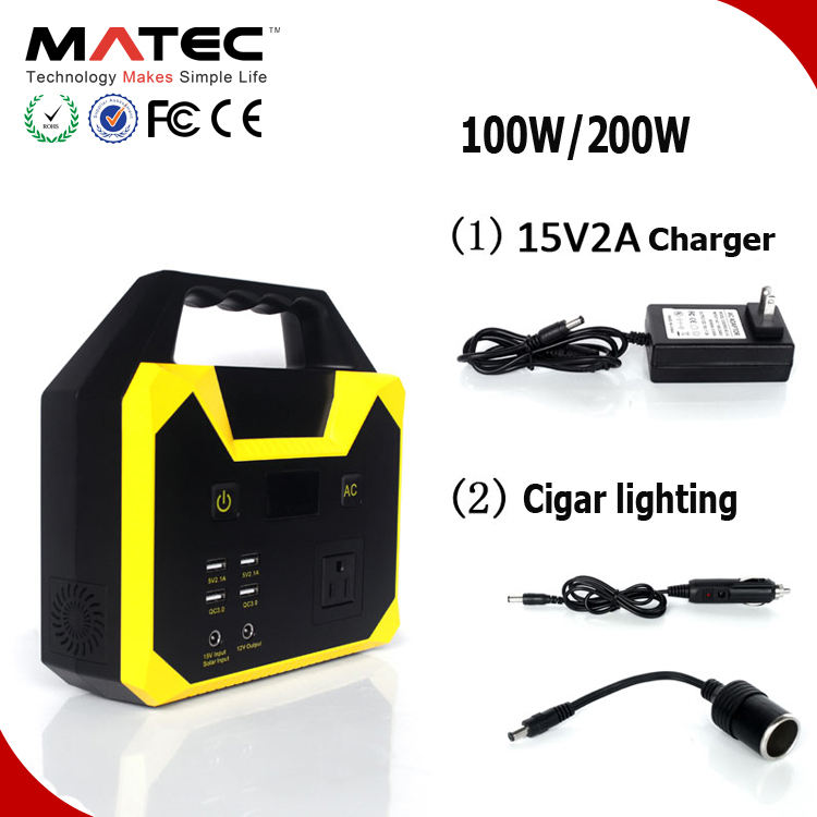 Multifunction portable power station 100w 200w 300w 500w 1000w for outdoor camping RV power supply lithium battery