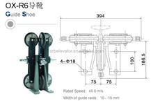 Elevator roller Guide rail shoe, high speed