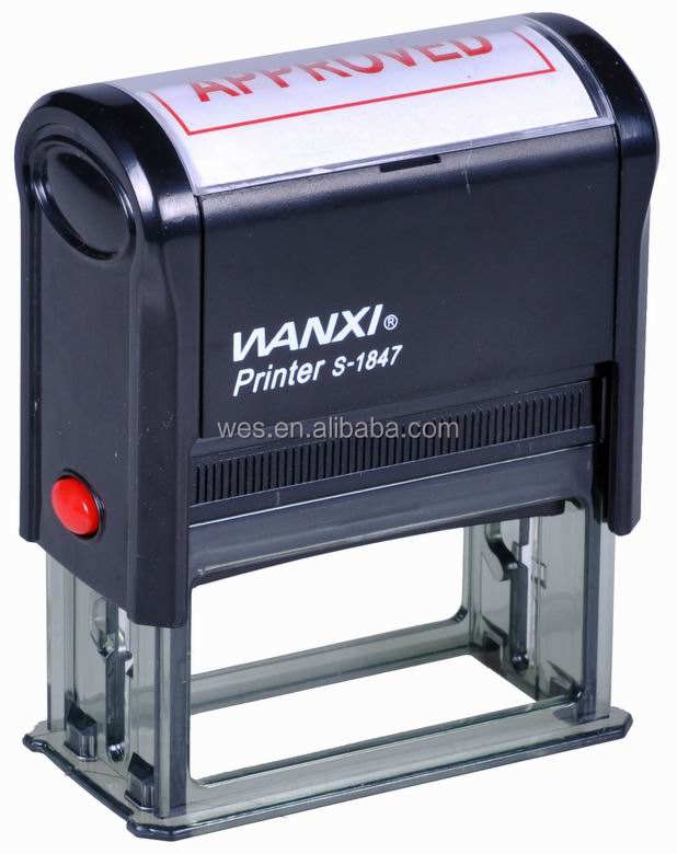 Hot sale Wanxi 18*47mm self-inking rubber stamp