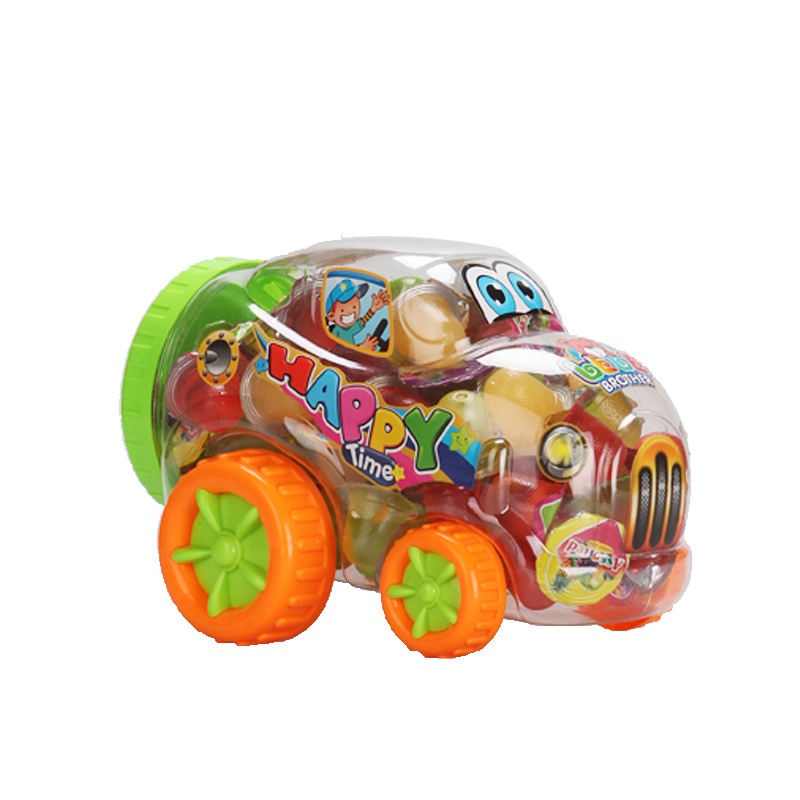 100pcs Funny Beetle Jar Toy Soft Jelly Fruit Candy