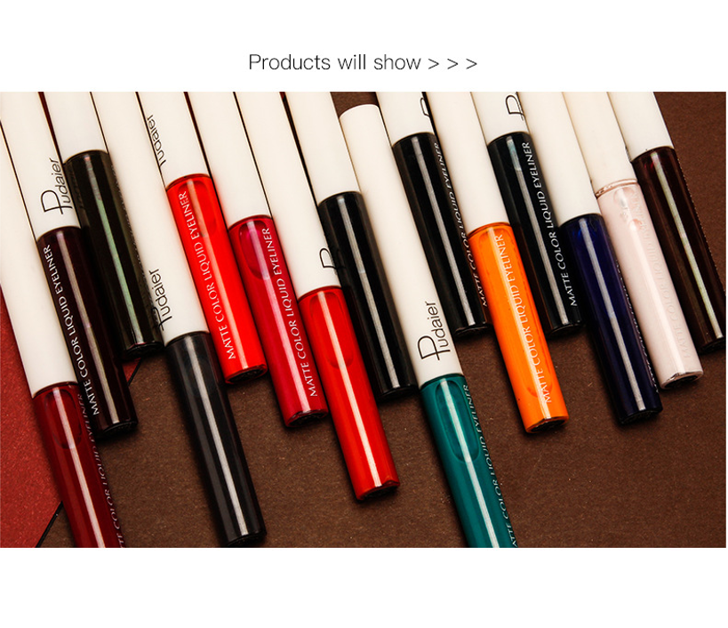 Wholesale high quality brush strokes smooth and lasting makeup effect 15 color matte eyeliner pen