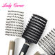 NEW ARRIVE curve boar bristle vent hair brush black and white color in stock Salon hair straightener brush