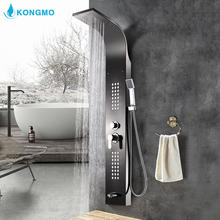 hot sale bathroom shower panels body jets chrome polishes shower mixer