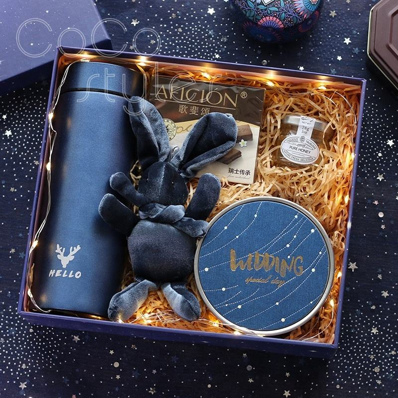 Cocostyles customized hot premium navy blue gift box gift sets for gentlemen christmas present birthday gift