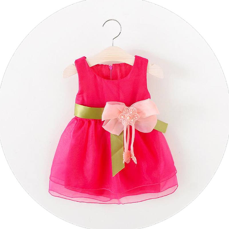 kid princess dress 2020 summer red baby girl birthday dresses for one year