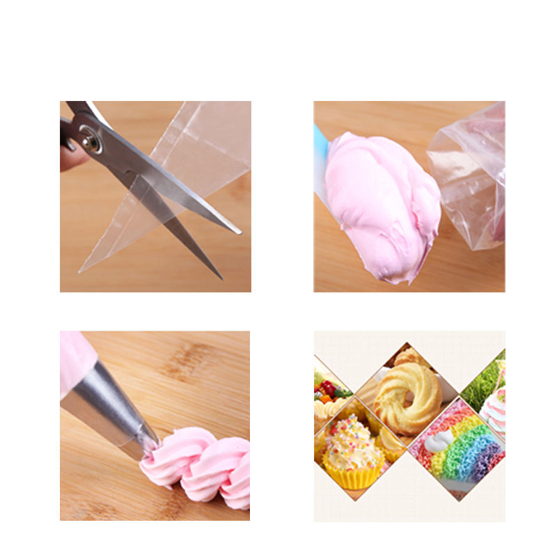 High quality professional 23X39.5cm pe fondant decorating custom disposable cake piping bag