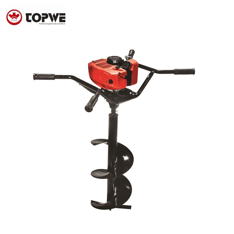 tree hole digging machine 58cc hand auger drilling machine earth manual earth auger
