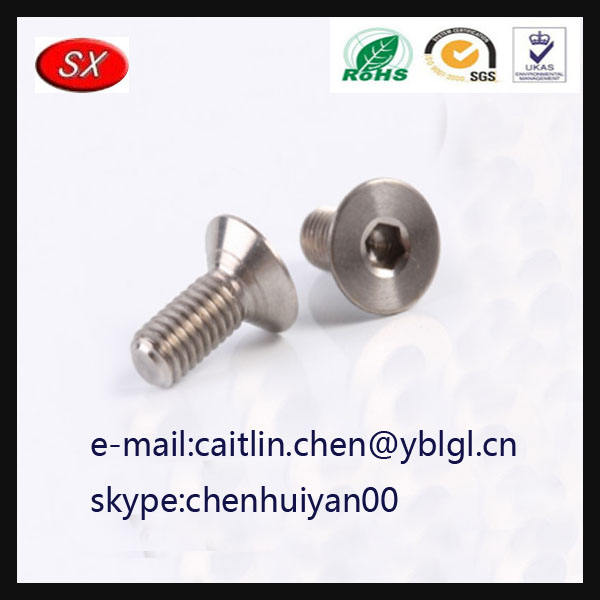 Titanium Ti Bolt Socket Screw Bicycle M5 x 18mm Washer Taper Head Conical