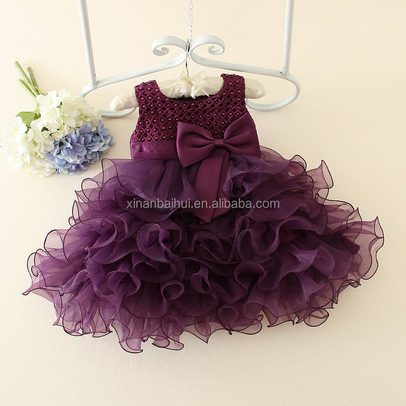 Girl party wear western dress baby girl party dress for 2 years old children frocks designs one piece girls dresses