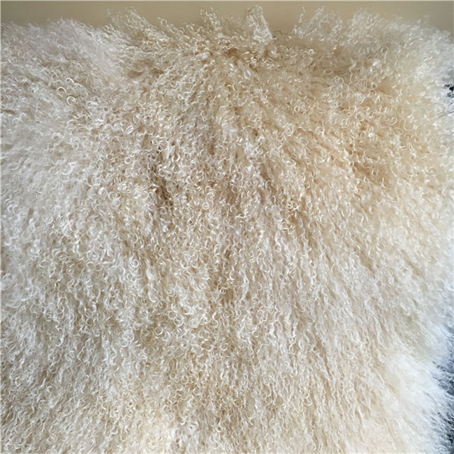 Long curly tibetan sheepskin fur material