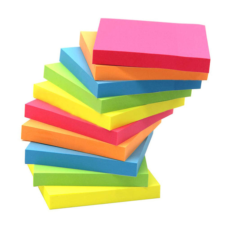 Promotion School Office Supplies Stationery Notepad Easy to Carry Colorful Sticky Note