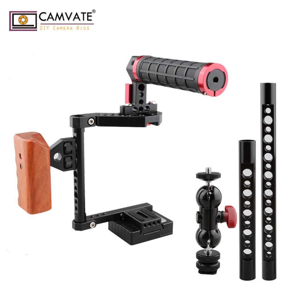 Cina <span class=keywords><strong>dslr</strong></span> video camera stabilizer kit per Macchine Fotografiche Canon 70D, 80D, Panasonic GH5, Nikon D810, Fujifilm X-T2