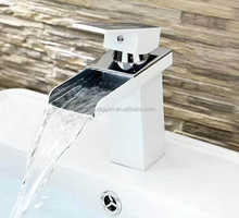 New Design High Quality Painting White Basin Waterfall Faucet