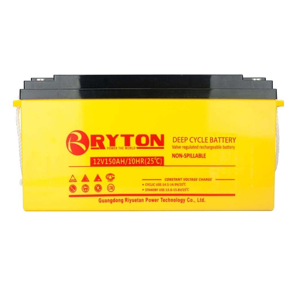 Ryton profesional 12 voltios 150amp vrla batería para 10 W <span class=keywords><strong>Kit</strong></span> de sistema de energía solar