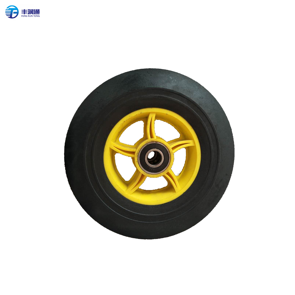Hot selling 8 inch small solid rubber wheels