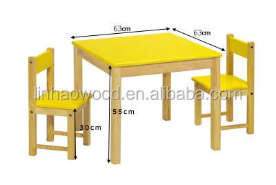 Crianças dobrável crianças de madeira e cadeiras