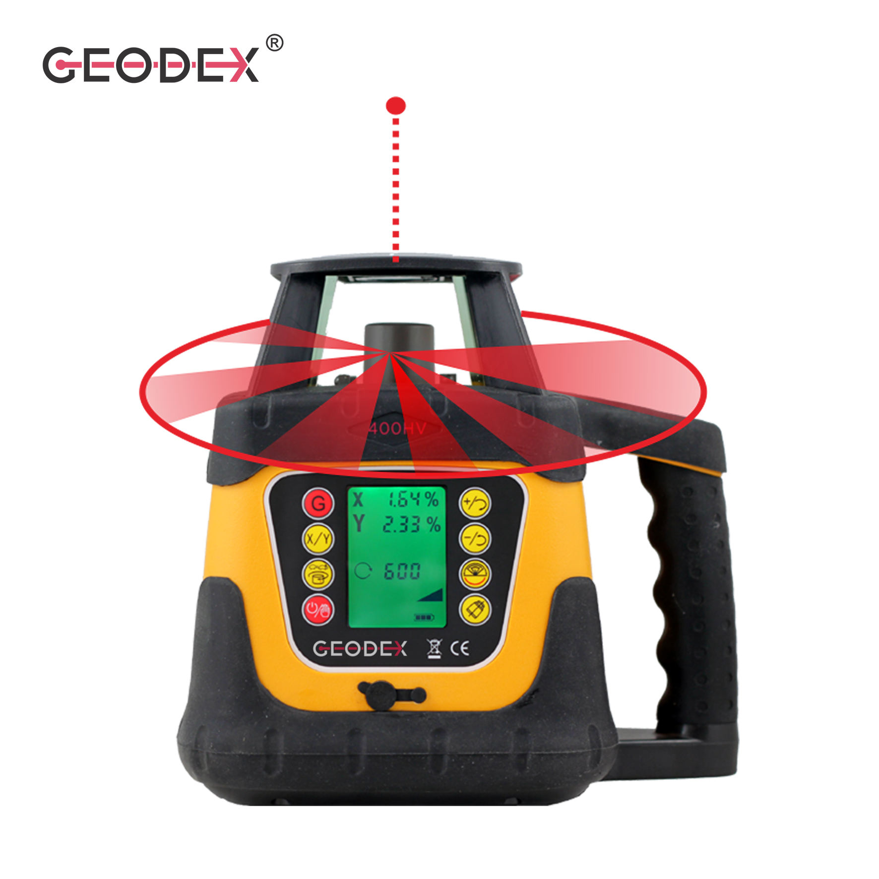 Rotary Laser Level 400hv with Slope Setting Function & LCD Display Measuring Instrument slop scale Rotating Red Laser level