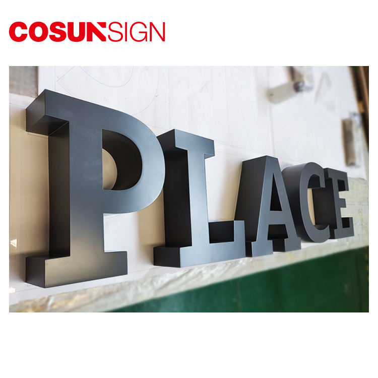 COSUN painting stainless steel metal digital signs hotel adhesive solid letter