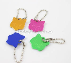Anodised Aluminium Pet Tag, Custom Cat Tags with laser logo