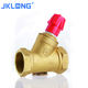 High quality Forged pressure relief Brass static hydraulic balance valve Manual regulating valve for HAVC system