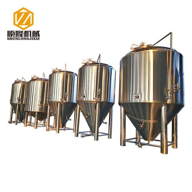 2018 new product stainless steel beer fermentation tanks or beer fermenters with glycol water jacket for beer fermenting
