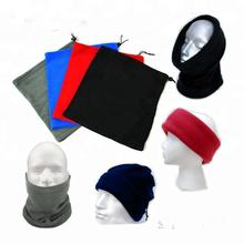 Polyester fleece neck warmer/winter knitted balaclava/unisex plain 9 in 1 snood