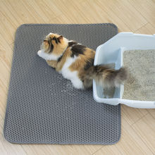 wholesale manufacturer washable large doublelayer EVA material waterproof cat litter mat