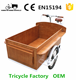 Front Cargo electric tricycle fast food cart street sale three wheel bike in bicycles for sale