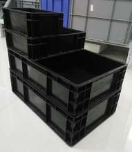 black industrial ESD plastic storage bins esd box